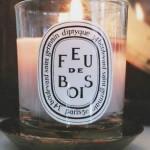 Diptyque-Feu-De-Bois-Lit-Candle