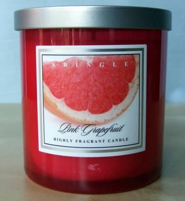 kringle pink grapefruit candle candle frenzy. Black Bedroom Furniture Sets. Home Design Ideas