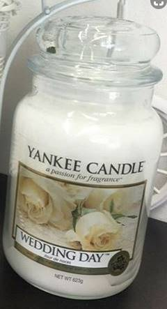 For The Yankee Wedding Day Candle